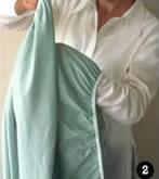 Como dobrar o lençol de percal com elástico - Passo 2